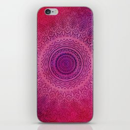 Watercolor Mandala Painting Red Pink iPhone Skin