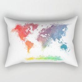 World Map splash 3 Rectangular Pillow
