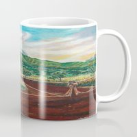 country Mugs featuring Country by Art by Risa Oram