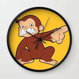 Furious George Funny Monkey Cartoon Animal Wall Clock