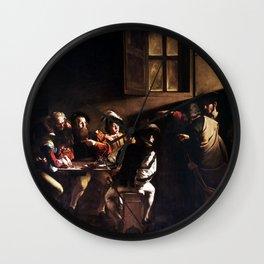 Caravaggio The Calling of Saint Matthew Wall Clock