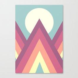 Retro Mountains (Abstract) Canvas Print