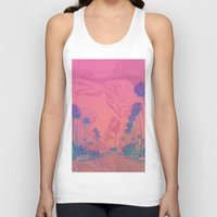 california Tank Tops featuring California by Cale potts Art