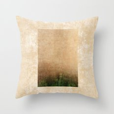Rising green Throw Pillow