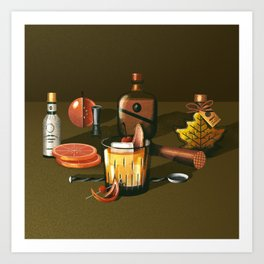 Maple Bourbon Old Fashioned Art Print