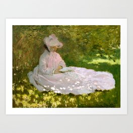 Springtime by Monet Art Print