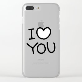 I Heart You (I Love You) Clear iPhone Case