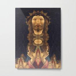 Jesus Symmetry Metal Print
