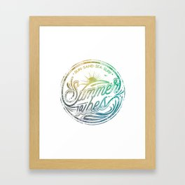 Summer vibes - typo artwork Framed Art Print