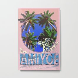amiyoe wave Metal Print