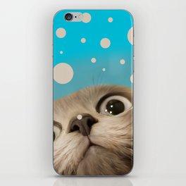 """""""Fun Kitty and Polka dots"""" iPhone Skin"""