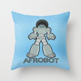 Afrobot Throw Pillow
