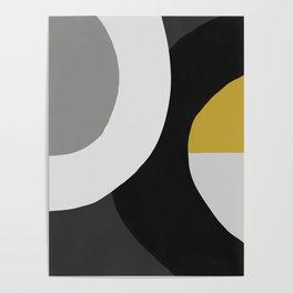 Circles Black and Gold Poster