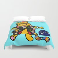 winnie the pooh Duvet Covers featuring Doctor Pooh by Murphis the Scurpix