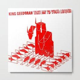 Take Me to Your Leader - British-American MC MF Doom - Monsta IslaKing Geedorah - Monsta Island Czar Metal Print