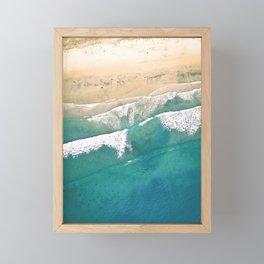 Turquoise Sea Beach Framed Mini Art Print