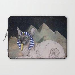 Sphynx Cat (space bg) Laptop Sleeve