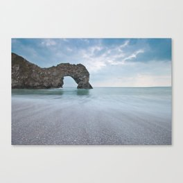Rock named Durdle Door Canvas Print