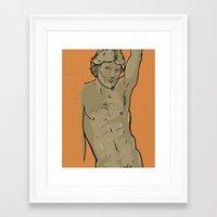 jon contino Framed Art Prints featuring Jon by Ego Rodriguez