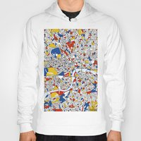 london Hoodies featuring London by Mondrian Maps