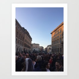 Vatican Streets Art Print