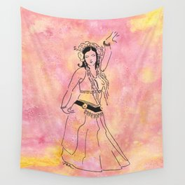 Raq On  (tribal style bellydancer) Wall Tapestry