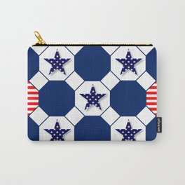Nautical Patriotic Hexagons Carry-All Pouch