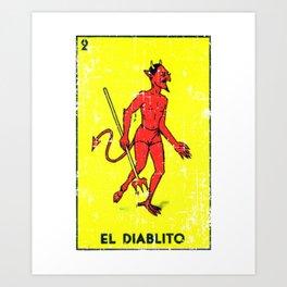 El Diablito Mexican Loteria Card Art Print