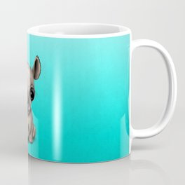 Cute Baby Rhino With Football Soccer Ball Coffee Mug