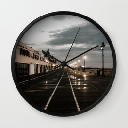 a muggy sunrise Wall Clock