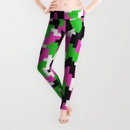 Girl Boss neon color blocks Leggings