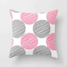 BlackRedBlackRedBlackRed Throw Pillow