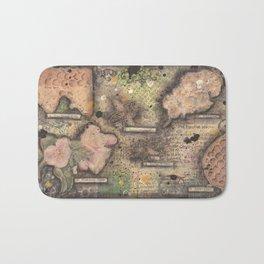 Honey Bee canvas collage Bath Mat