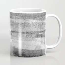 Layers grayscale abstract natural pattern Coffee Mug