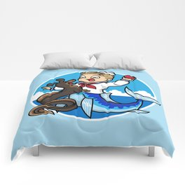 A Merboy and his Sea Dog Comforters