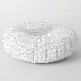White keyboards Floor Pillow