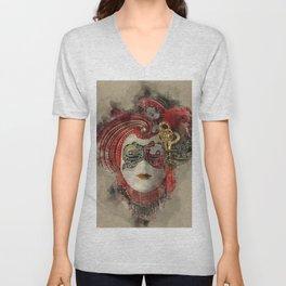 Venetian Mask 1 Unisex V-Neck