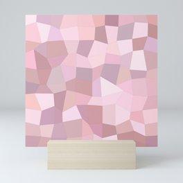 Pastel Pink Mosaic Mini Art Print