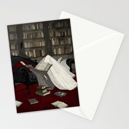 Asleep in the Library Stationery Cards
