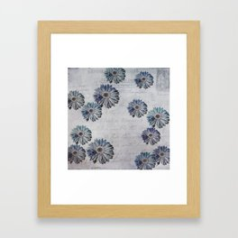 blue daisies par avion Framed Art Print