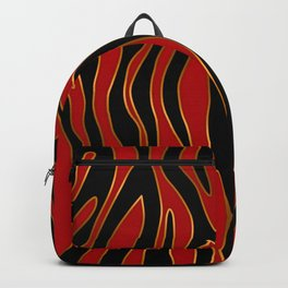 Zebra Red and Gold Backpack