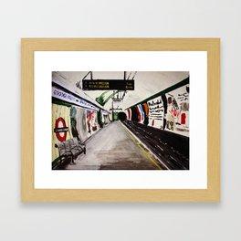 London Underground Goodge Street Framed Art Print