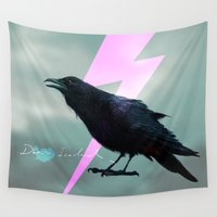 iceland Wall Tapestries featuring Iceland x Raven  by factoryandgrass