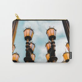 Urban Lights at LACMA, Los Angeles, California, USA with blue sky Carry-All Pouch
