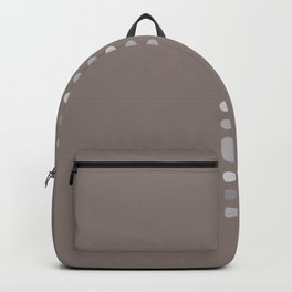 Brown vertical dots Backpack