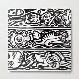 Codex pattern Metal Print
