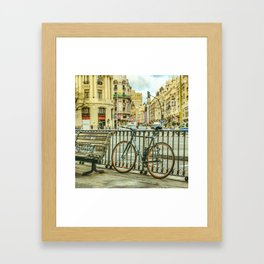 Gran Via Street, Madrid, Spain Framed Art Print