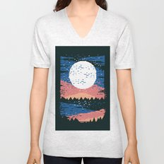 Starry Pixel Night Unisex V-Neck