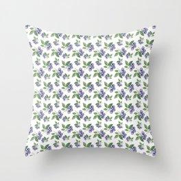 Watercolour blueberry pattern #s1 Throw Pillow