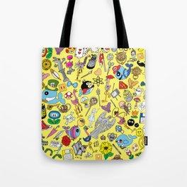 Geek Chic Megamix Yellow Tote Bag